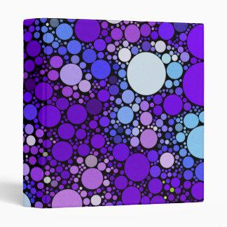 Zazzy Bubbles, blue Binders