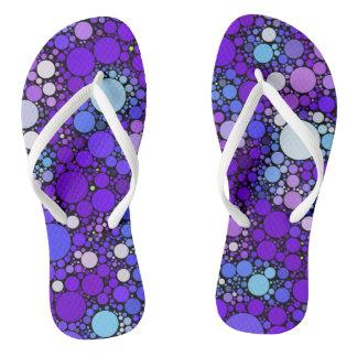 Zazzy Bubbles, blue Flip Flops