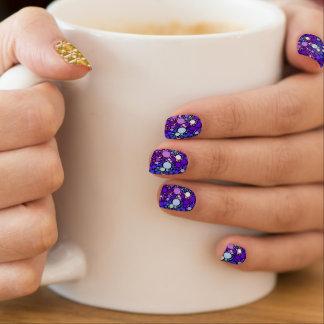 Zazzy Bubbles, blue Minx Nail Art