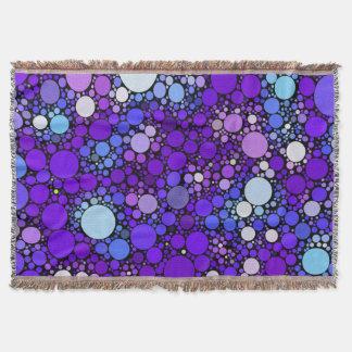 Zazzy Bubbles, blue Throw Blanket