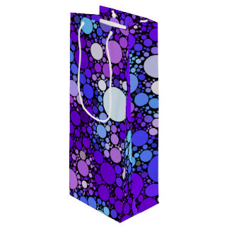 Zazzy Bubbles, blue Wine Gift Bag