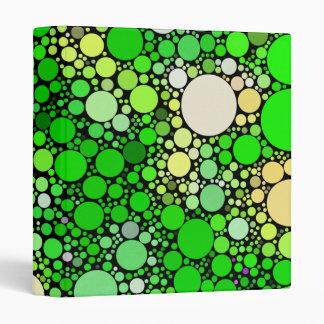 Zazzy Bubbles,green 3 Ring Binders