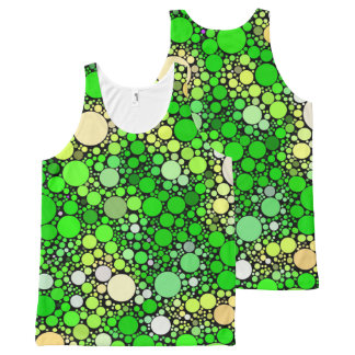 Zazzy Bubbles,green All-Over-Print Tank Top