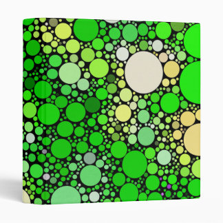 Zazzy Bubbles,green Binder