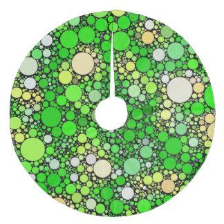 Zazzy Bubbles,green Fleece Tree Skirt