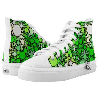 Zazzy Bubbles,green High Tops