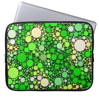 Zazzy Bubbles,green Laptop Sleeve