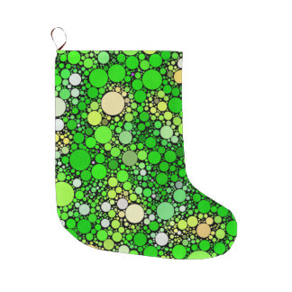 Zazzy Bubbles,green Large Christmas Stocking