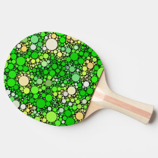 Zazzy Bubbles,green Ping Pong Paddle