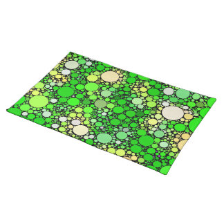 Zazzy Bubbles,green Placemat