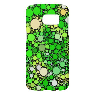 Zazzy Bubbles,green Samsung Galaxy S7 Case