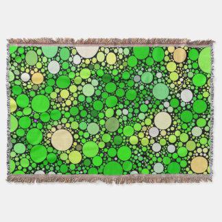 Zazzy Bubbles,green Throw Blanket