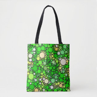 Zazzy Bubbles,green Tote Bag