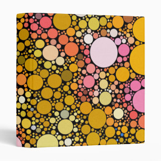 Zazzy Bubbles,orange 3 Ring Binder