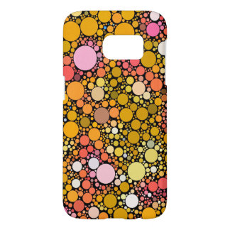 Zazzy Bubbles,orange Samsung Galaxy S7 Case