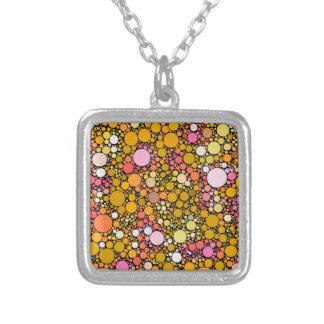 Zazzy Bubbles,orange Silver Plated Necklace