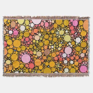 Zazzy Bubbles,orange Throw Blanket