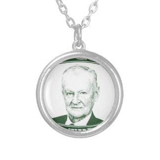 Zbigniew Brzezinski in God We trust Silver Plated Necklace