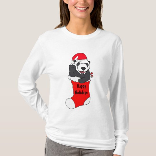 ZD- Christmas Panda in a Stocking Shirt