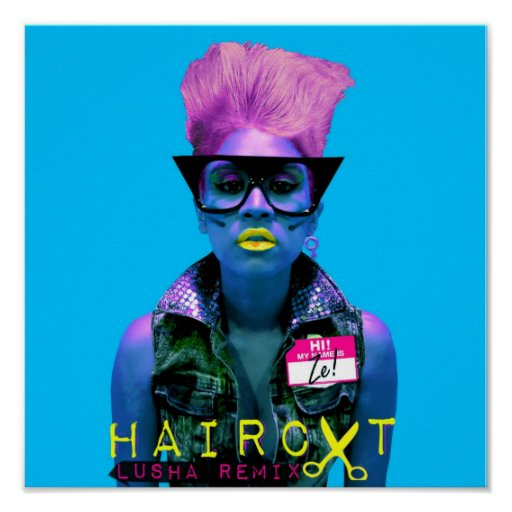 ZE! - Haircut Cover - Blue (Poster)