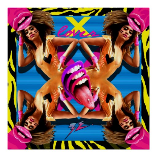 """ZE! - """"X LOVER"""" Cover (Poster)"""