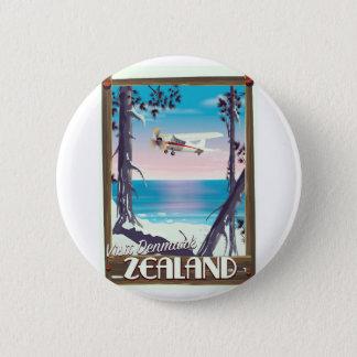 Zealand Denmark travel poster 2 Inch Round Button