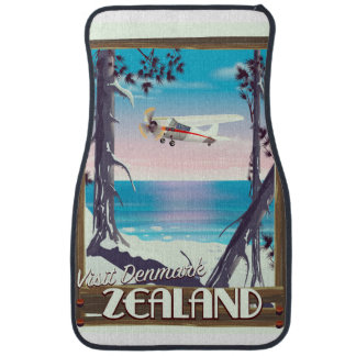 Zealand Denmark travel poster Car Mat