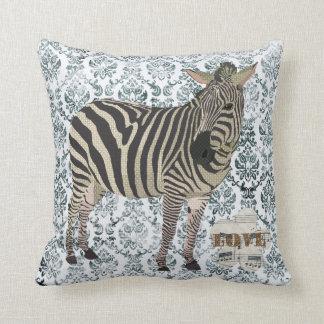 Zeb Love Grunge Damask MoJo Pillow