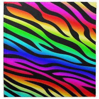 Zebbra Stripes Rainbow Printed Napkins