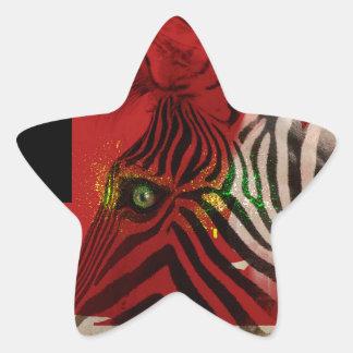 Zebra 4.0 Abstract Contemporary Art Star Sticker