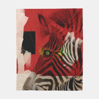 Zebra 4.0 Abstract Fleece Blanket