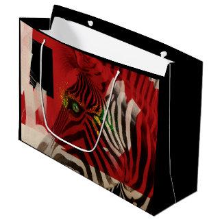 Zebra 4.0 Abstract Large Gift Bag