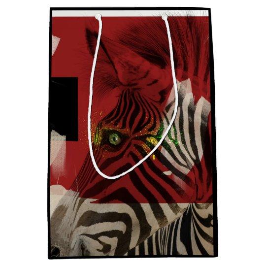 Zebra 4.0 Abstract Medium Gift Bag