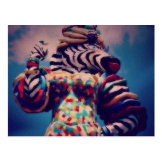 Zebra a Party Animal Postcard