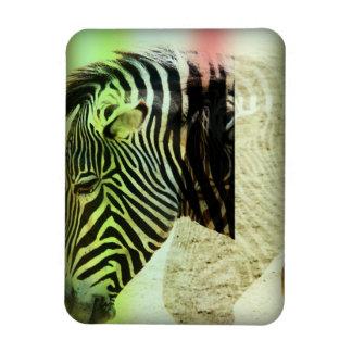 Zebra Abstract Rectangular Magnet