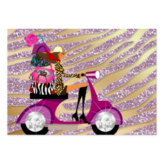 Zebra Accessories Purses Jewelry Pink Gold Sparkle Business Cards