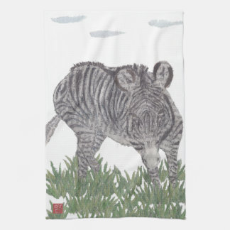 Zebra, Africa, Animal, Wildlife Kitchen Towel