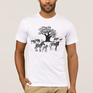 Zebra and Baobab Tree T-Shirt