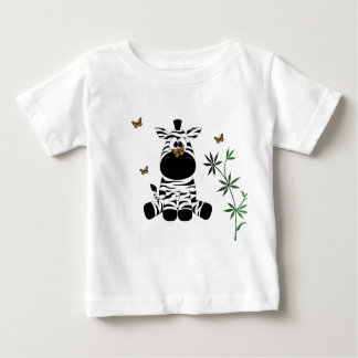 Zebra and Butterflies Baby T-Shirt