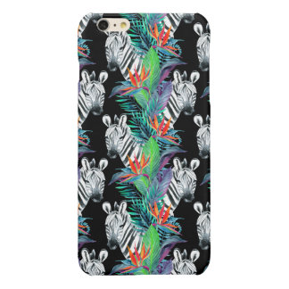Zebra And Exotic Flowers Pattern