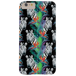 Zebra And Exotic Flowers Pattern Barely There iPhone 6 Plus Case