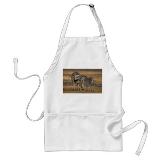 Zebra and foal - South Luwanga Standard Apron