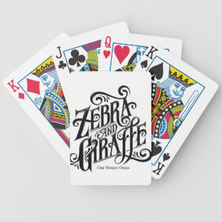 ZEBRA AND GIRAFFE THE WISEST ONES BICYCLE PLAYING CARDS