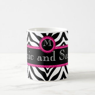 Zebra and Lace Chic and Sassy Monogram Coffee Mug