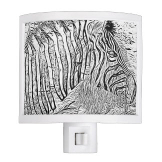 Zebra and lion Night Light