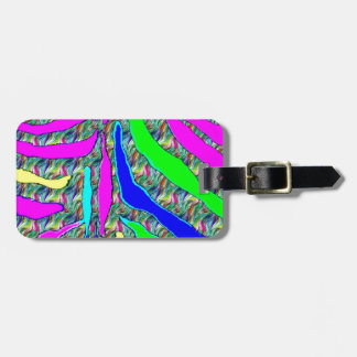 Zebra animal pattern colorful abstract pattern luggage tag