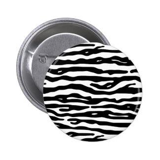 Zebra Animal Print Black White Stripes Pattern 2 Inch Round Button