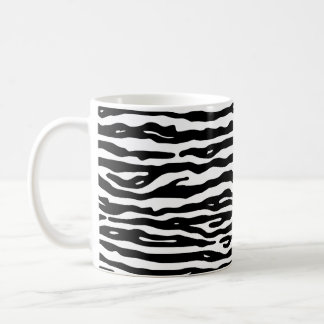 Zebra Animal Print Black White Stripes Pattern Coffee Mug