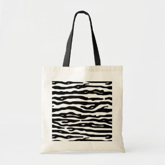 Zebra Animal Print Black White Stripes Pattern Tote Bag