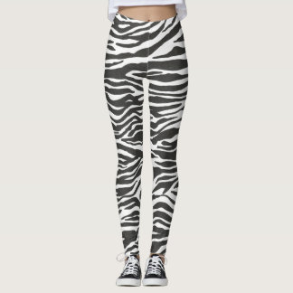 zebra animal print leggings yoga pants tights